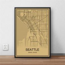 Seattle - Retro Bykart - Brun Rektangel