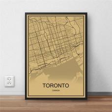 Toronto - Retro Bykart - Brun Rektangel