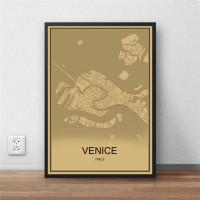 Venezia - Venice - Retro Bykart - Brun Rektangel