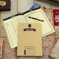 Reisedagbok med Skrapekart - Hvit