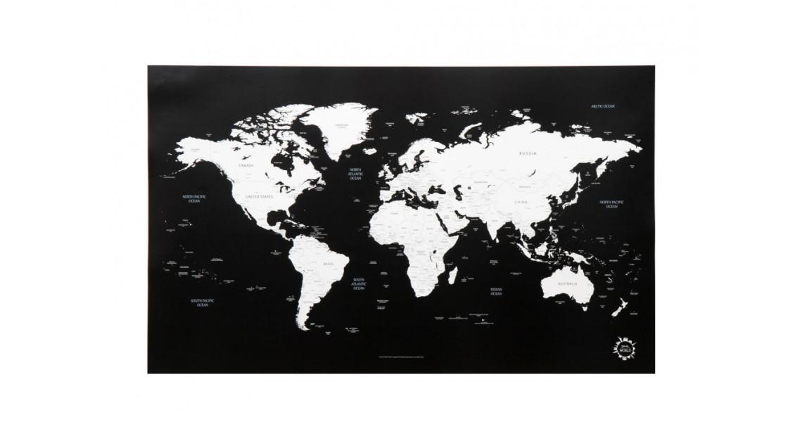 Verdenskart Sort-Hvit